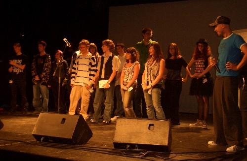 Alle Teilnehmer des abc Schülerslams 2008