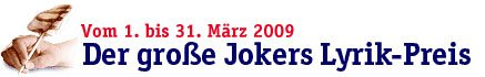 Jokers Lyrikpreis2009
