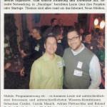 Foto vom letzten Webmontag in Augsburg: Roland Riethmüller und Horst Thieme