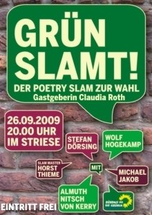 Grün SLAMT (Plakat in Augsburg)