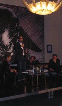 Literarischer Salon: Barbara Eschlberger, Horst Thieme, Juliane Votteler und Kurt Idrizovic (vLnR)