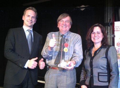 Preisverleihung - Lars Stüben, Hansi Ruile und Christine Montigel