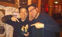 Bernd Jaufmann (Gewinner) und Horst Thieme (Moderation)